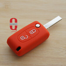 Red silicone car key cover for Peugeot 206 208 207 3008 308 RCZ 508 408 2008