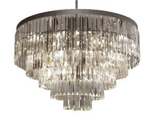 Palladium Crystal Glass Fringe Chandelier Chandeliers Lighting