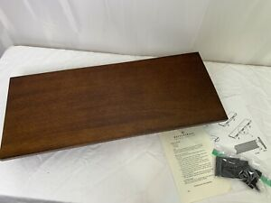 Pottery Barn Mahogany Modern Floating 2 Foot Shelf w/ Plate Holder Groove Slot