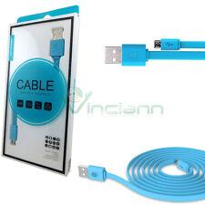 Cavo dati Nillkin azzurro per HTC Desire 620G cavetto micro USB piatto