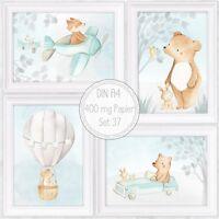 Jungen Babyzimmer Bilder Kinderzimmer Bilder Flugzeug Tiere Fuchs Bild A4|SET 37