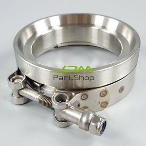 """Stainless GT45 V Band Clamp 3.25"""" Turbo Downpipe Exhaust V-Band Clamp Flange Kit"""