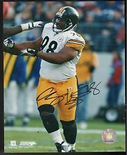 CASEY HAMPTON PITTSBURGH STEELERS SIGNED 8X10 PHOTO JSA AUTHENTICATED