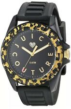 New Juicy Couture pedigree Watch  Black Face Leopard Bezel Silicone Band 1901161