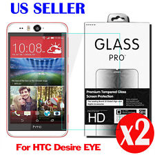 2X 9H Premium Tempered Glass Screen Protector Film For  HTC Desire EYE 0.26MM