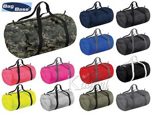 BagBase Barrel Bag Holdall Duffle Foldable Bag Holiday Sports Gym Handheld Bag
