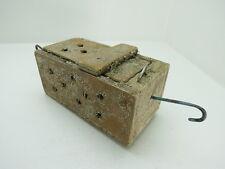 (#2631)  OLD WOOD DUNGENESS CRAB  LOBSTER SHRIMP BAIT TRAP JAR BOX CRAWFISH