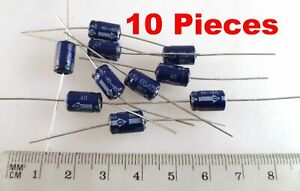 Panasonic CE Electrolytic Capacitor Axial 100uF 25V 85'C 10 Pieces MBD0026C