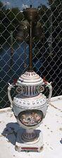 Dresden Meissen hard  paste porcelain lamp cherubs lamp