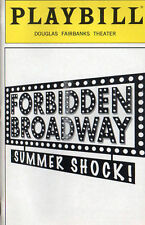 Forbidden Broadway Summer Shock! Playbill