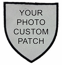 Indestructible Custom Personalized Embroidered Photo Patch Arrow Head Shape