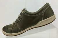 Josef Seibel Sneakers Casual Shoes Brown Leather Lace Up Womens Sz 39 US 8/8.5