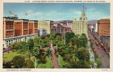 Looking North Across Pershing Square, Showing Los Angeles Biltmore - CA 1931