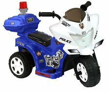 Electric Cars For Kids To Ride On Toys Police Riding Motorcycle Trike 6V Battery