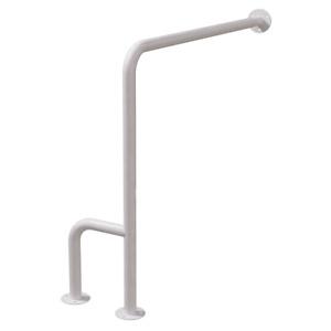 WC Stützgriff für barrierefreies Bad rechts montierbar weiß 70 cm DN32 mm