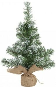 Artificial Christmas Tree Snow Tipped Norway Pine 45cm Tall Table Top Tree