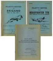 BRISTOL BEAUFORT, BRIGAND & BEAUFIGHTER PILOTS NOTES: + BONUS INFORMATION PACKS
