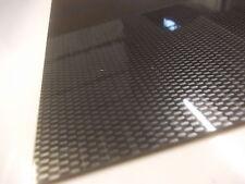 Fibre de carbone effet ABS feuille 2 mm 500 x 200 mm