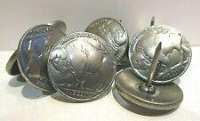 "(25) Buffalo Nickle Tacks, Silver 3/4"" Dia., Crafts, Upholstery, Clavos, Tack"