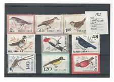 1962 URUGUAY POST OFFICE ISSUE UNMOUNTED MINT STAMPS SET OF 12-VARIOUS BIRDS