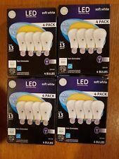 Lot of 4  4 PACK GE LED 60W = 9W Soft White