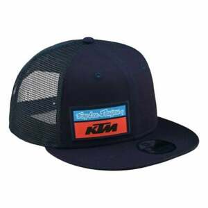 Troy Lee 2020 Adults Team KTM TLD Stock Motocross MX Bike Snapback Hat - Navy