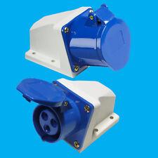 außen blau 16A 240V 3-polig Industrie- Wohnmobil Buchse iec60309 CEE Kommando