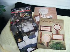 Vintage Colonial Welcome Candle wicking Cross Stitch Leaflet Christmas Ornaments