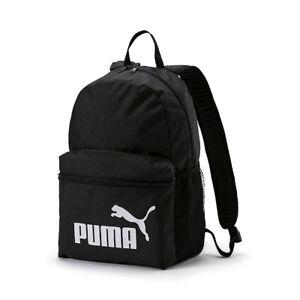Puma Phase Backpack Rucksack Schule Sport Freizeit Neu schwarz 75487