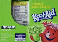 Kool-Aid Lemon Lime Unsweetened Soft Drink Mix, (Bonus Pack of 50 Packets)