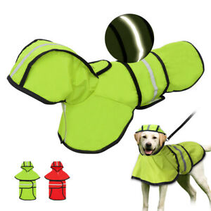 Reflective Dog Raincoats Waterproof Hoodie Jacket Clothes for Small Medium Dogs