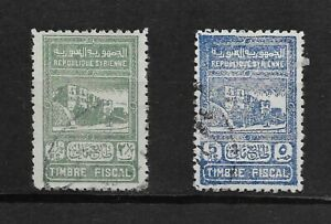 L1907 Syria fiscal revenue stamp duty  2,1/2 and 5 FS used