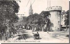 CARTOLINA 14 - CAEN - La torre leroy e il campanile saint-pierre