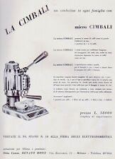 PUBBL.1954 MACCHINA CAFFE' ESPRESSO MICRO CIMBALI CARATTERISTICHE TECNICHE BAR