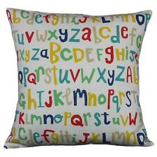 """Cushion cover in Letters Play Scion fabric 17"""" / 43cm square. 100% cotton"""