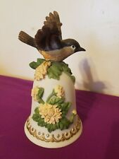 "Heritage House ""Greensleeves"" Bird & Flowers Music Box Bell - Garden Symphony"