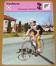 CYCLISME CICLISMO GIUSEPPE SARONNI GIRO TOUR FRANCE ITALIA