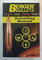 Berger Bullets 1st Edition Reloading Manual