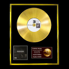 EMINEM THE MARSHALL MATHERS LP CD GOLD DISC VINYL RECORD  FREE SHIPPING TO U.K.