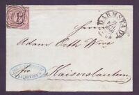 Thurn + Taxis 1853 - Faltbrief 6Kr. MiNr. 9 aus Darmstadt - Michel 50,00 € (300)