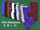 Unisex BOYS GIRLS KIDS SWEATPANTS colors Elastic Waist size S M L XL