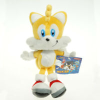New Sonic The Hedgehog Tails Sega Yellow Plush Doll Stuffed Figure Toy 7 inch