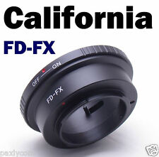 Canon FD Lens to Fujifilm X-Pro1 X-E1 Lens Mount Adapter FX Mount FD-FX Camera