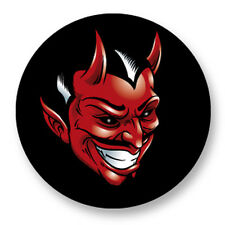 "Pin Button Badge Ø25mm 1"" Evil Diable 666 Enfer Satan Feu Flamme Demon Satan"