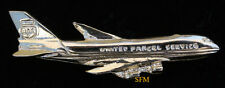 UPS B-747 GOLD XL PLATED HAT LAPEL PIN UP PILOT CREW WING GIFT FREIGHT AIRLINER