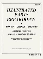 GENERAL ELECTRIC J79-11A / ILL. PARTS  BREAKDOWN ( LOCKHEED F-104G STARFIGHTER )