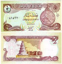 IRAQ Irak Bilet 1/2 Dinar 1993 P78 SADDAM NEUF UNC