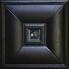 PU Leather 3D Wall Panel - modern decor. Sample panel #LT-11 Black/Smoked Mirror