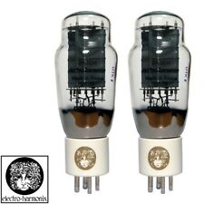 New Ip & Gm Factory Matched Pair 2x Electro Harmonix 2A3 Gold Grid Vacuum Tubes