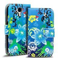 Handy Tasche für Samsung Galaxy S4 Mini Hülle PU Leder Motiv Schutzhülle Case